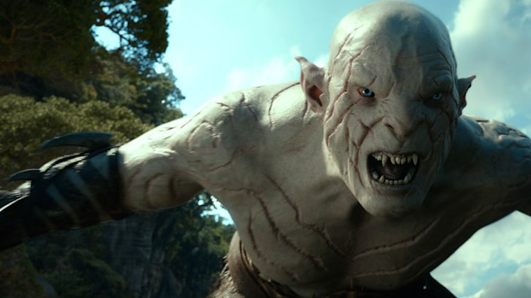 Azog, Förgöraren, i filmen Hobbit. Foto: TT