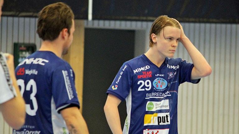 Markus Jonsson i Växjö IBK (Vipers). Foto: Anna Tigerström/Sveriges Radio