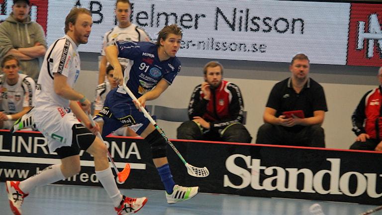 Christopher Holmér i Växjö IBK (Vipers) mot Granlo i Fortnox arena. Foto: Anna Tigerström/Sveriges Radio
