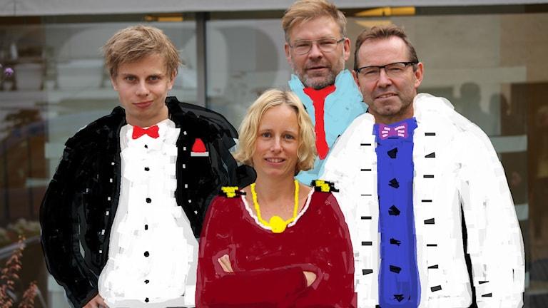 Nyårsspecial i Sportmagasinet. Foto: Emma Kvennberg/Sveriges Radio.