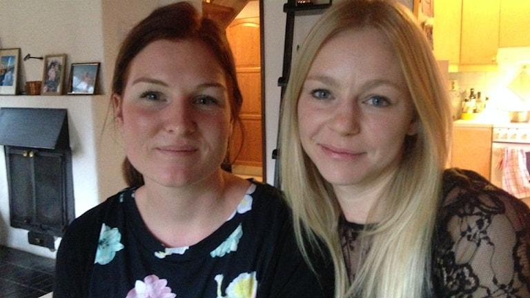 Jennie Andersson och Lina Althén Henriksson. Foto: Peje Johansson/Sveriges Radio