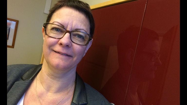 Anne-Lie Nilsson, ordförande för Lärarförbundets avdelning i Växjö. Foto:Lena Gustavsson/Sveriges Radio