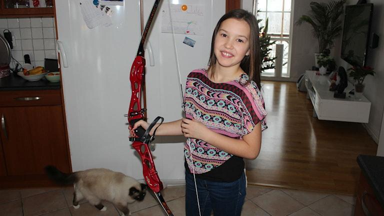 Mikaela Svensson, 10 år, har målet siktat mot OS. Foto: Karin Ernstsson/Sveriges Radio