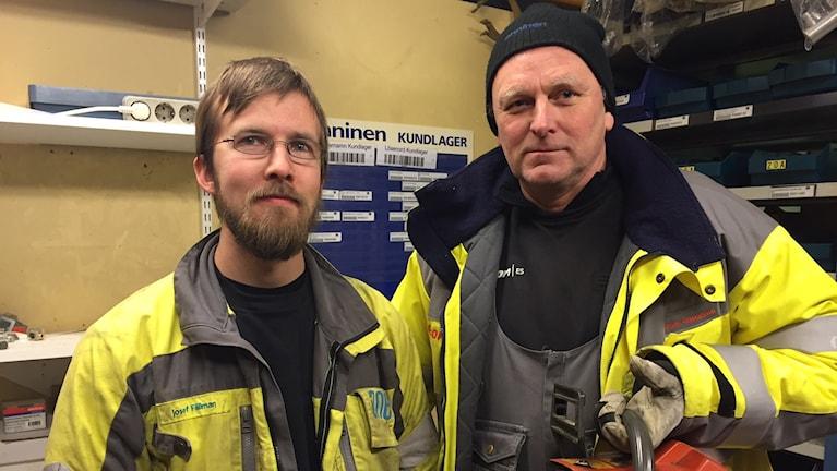 Josef Fällman och Thomas Gustavsson. Foto: Peje Johansson/ Sveriges Radio