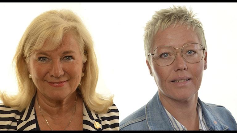 Katarina Brännström (M) och Monica Haider (S)