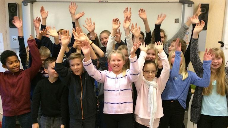 Högstorps skola 5 A. Foto: Carina Bergqvist/Sveriges Radio
