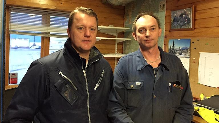 Mattias Ringström och Jerry Gustavsson. Foto: Peje Johansson/ Sveriges Radio