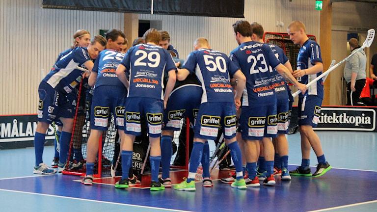 Växjö IBK (Vipers) i Fortnox arena. Foto: Anna Tigerström/Sveriges Radio