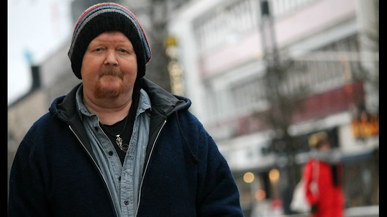 Bobo Billman på Storgatan i Växjö. Foto: Emma Kvennberg/Sveriges Radio