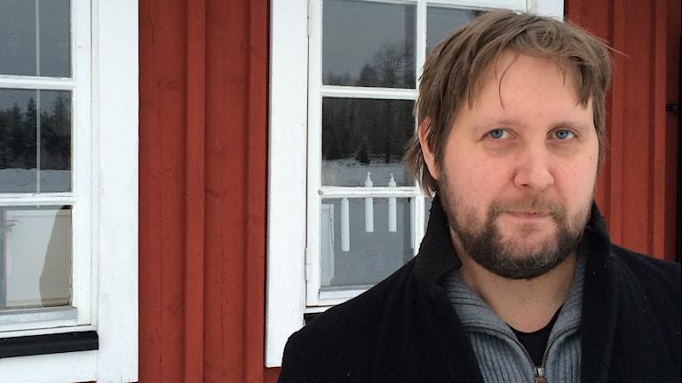 Skräckförläggaren Ola Svensson. Foto: Jocke Wallgren/Sveriges Radio