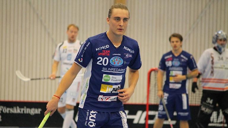 Valdemar Ahlroth i Växjö Vipers. Foto: Anna Tigerström/Sveriges Radio