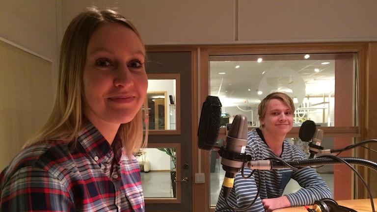 Julia Örnhem och Fredrik Holmberg. Foto: Petra Ekelöf/ Sveriges Radio