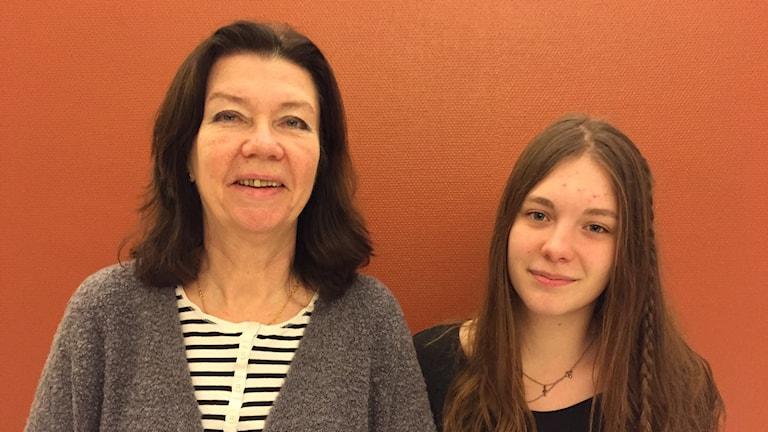 Eva Eriksson och Vera Nelson, Astradskolan. Foto: Peje Johansson/ Sveriges Radio