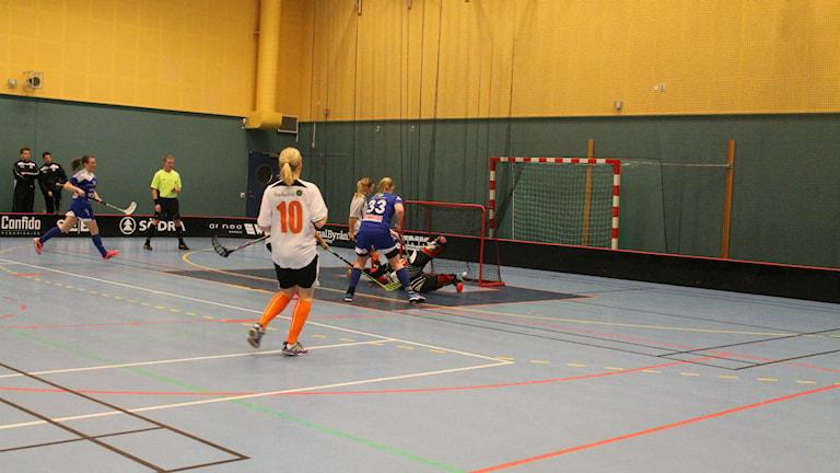 I matchen mot Engelholm blev Hovshagas Rebecka Johansson tvåmålsskytt.