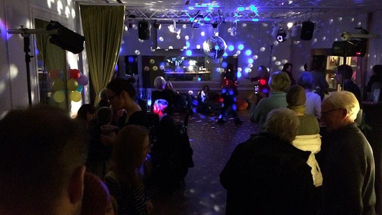 P2-disko på Kulturnatten i Växjö 2015