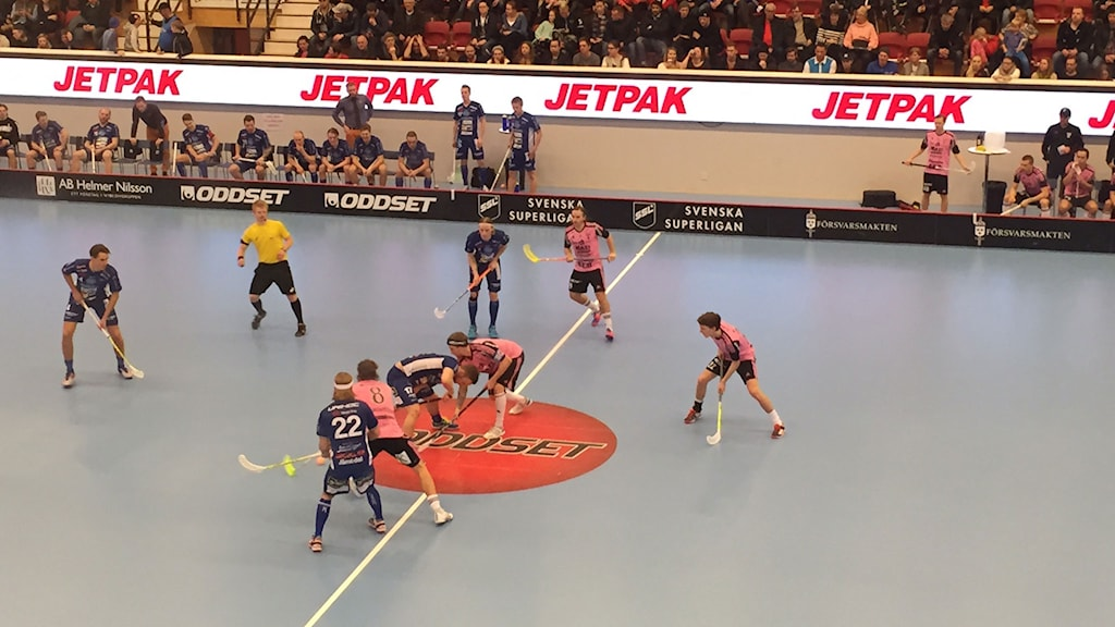 Växjö IBK (Vipers) möter Falun i Fortnox arena. Foto: Janne Gunnarsson/Sveriges Radio