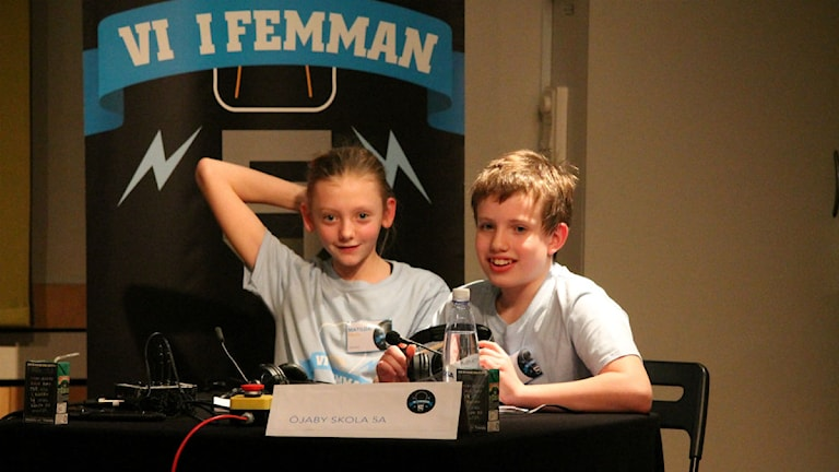Matilda Fälth och Anton Strand tävlar om en plats i tv-finalen av Vi i femman.