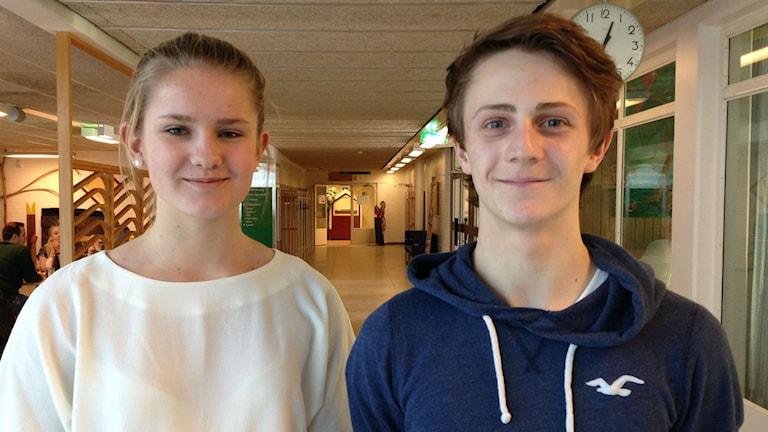 Gabrielle Johansson och Hannes Lundkvist. Foto: Gunilla Hellgren/Sveriges Radio