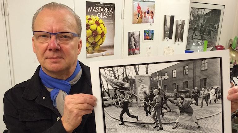 Hans Runesson, fotograf. Foto: Carina Bergqvist/ Sveriges Radio