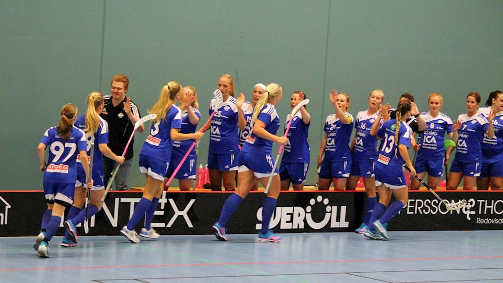 Hovshaga AIF spelar innebandy i Hovshaga sporthall. Foto: Anna Tigerström/Sveriges Radio