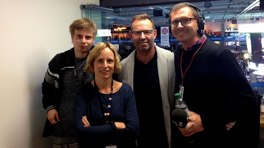 Jonatan Bergman, Anna Tigerström, Mike Zanier och Håkan Eng.