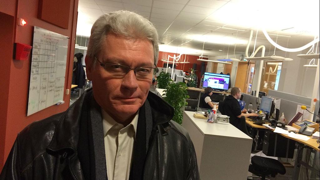 Carl-Gustaf Rask, kommisarie, är kritisk till den nya organisationen. Foto: Per Brolléus/Sveriges Radio.