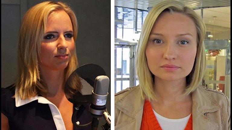 Sara Skyttedal och Ebba Busch Thor. Foto: Sveriges Radio