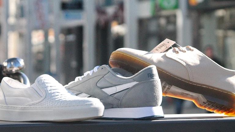 Tre trendiga skor! Foto: Emma Kvennberg/Sveriges Radio