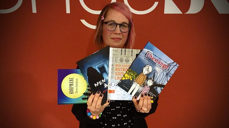 Paula Högström från Växjö Stadsbibliotek.