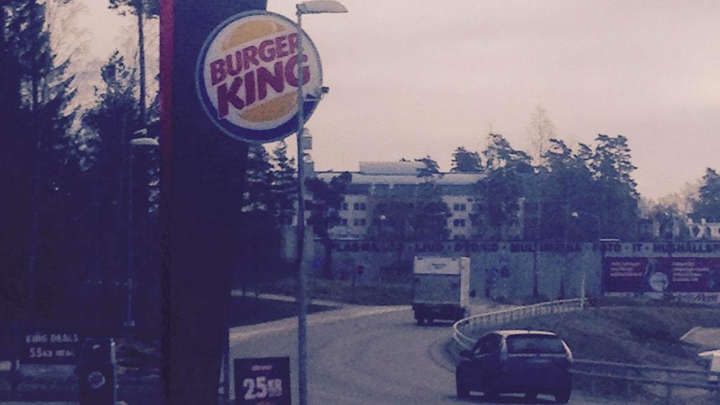 Kameran vid Burger King. Foto: Sejla Dzamalija/Sveriges RadioKameran vid Burger King. Foto: Sejla Dzamalija/Sveriges Radio