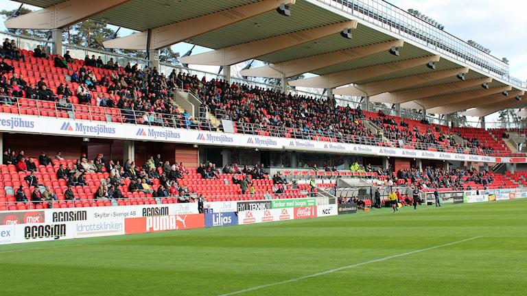 Publik på Myresjöhus arena när Öster spelar. Foto: Michael Ohlsson/Sveriges Radio