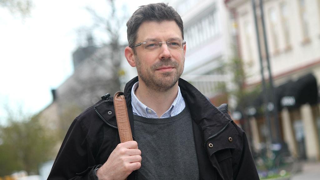 Philip Bäckmo på Storgatan i Växjö