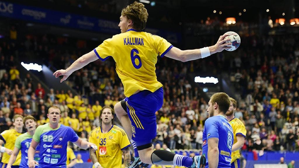 Jonas Källman gjorde fyra mål. Foto: Mikael Fritzon/TT