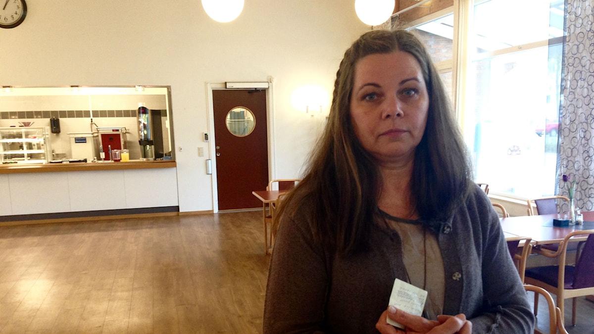 Ljungby kommuns kostchef Mariana Axelsson. Foto: Johan Nordström/Sveriges Radio.