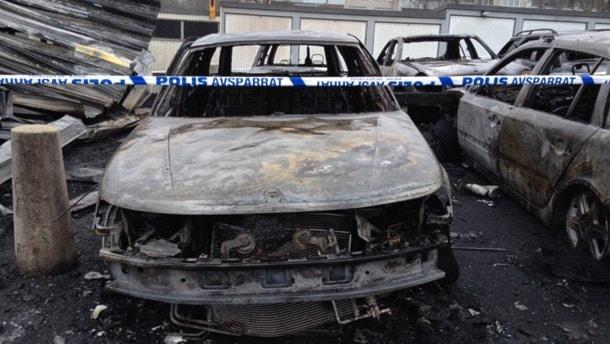 En utbränd bil