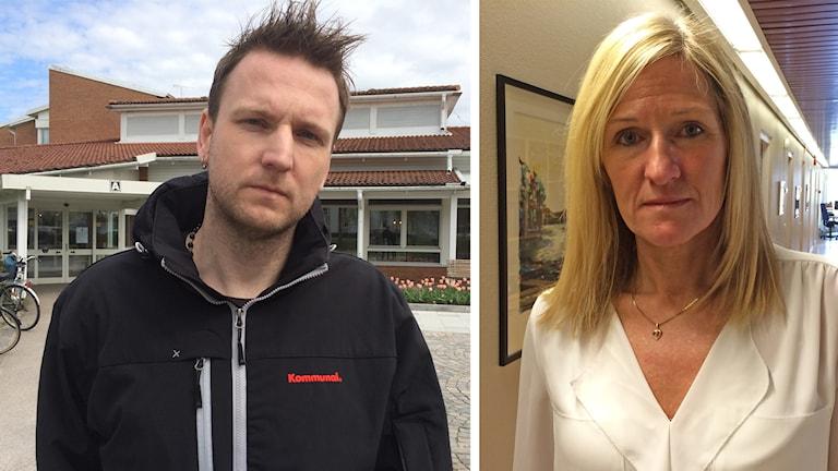 Jonas Gerhardsson, Kommunal och Anna Hesselstedt, personalchef.