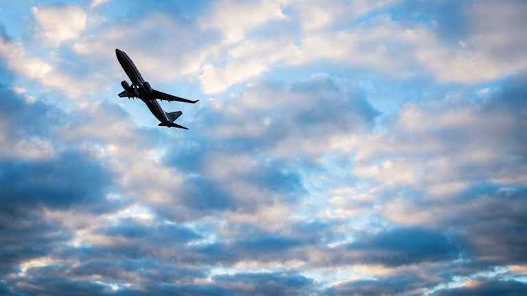 Ett flygplan har lyft.