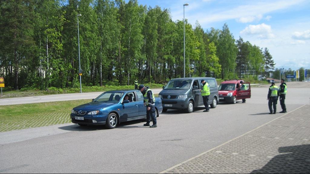 Nykterhetskontroll under trafiksäkerhetsveckan