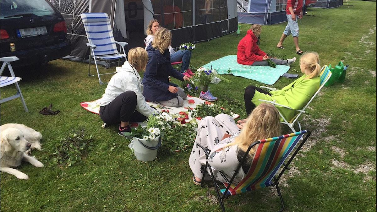 Midsommarfirande på campingen i Hällevik i Blekinge. Foto: Peje Johansson/Sveriges Radio
