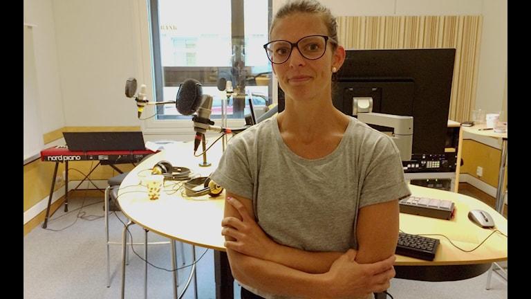 Anna Lindberg i eftermiddagsstudion.