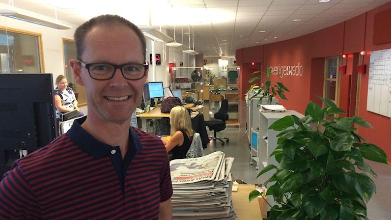 Ulf Myrestam, kanalchef för P4 Kronoberg. Foto: Fredrik Jarl/Sveriges Radio