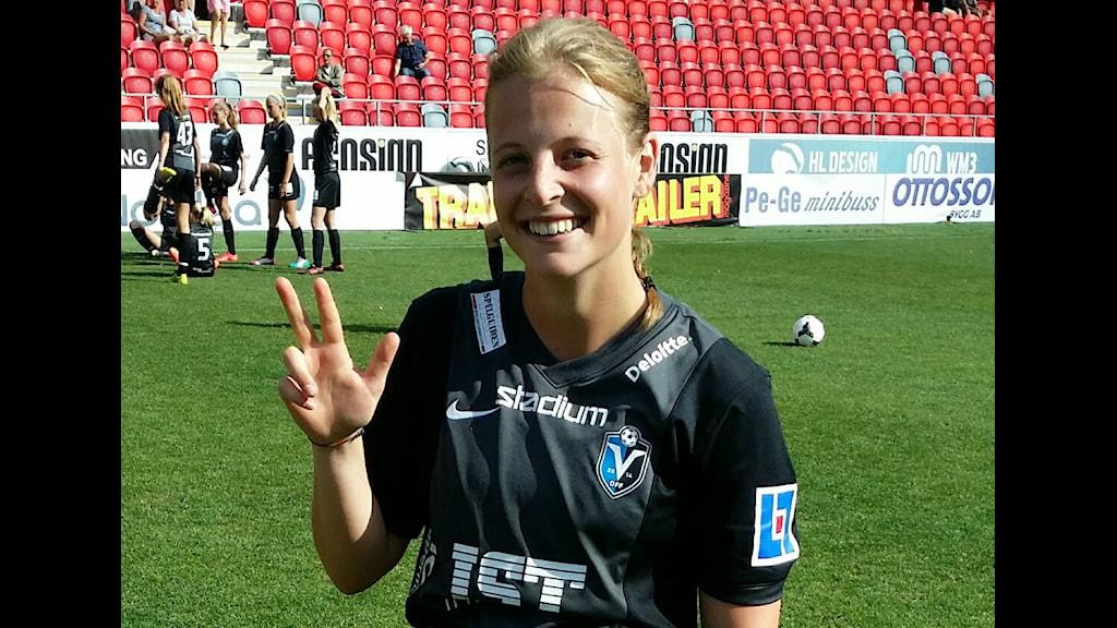 Växjö DFF:s Anna Anvegård. Foto: Mikael Wahlberg/Sveriges Radio