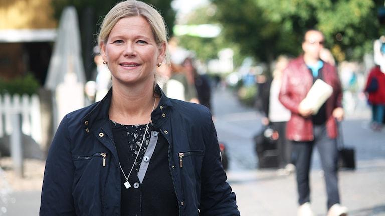 Mimmi Schill på Storgatan i Växjö