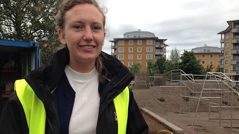 Ida Karlsson framör anläggningen.