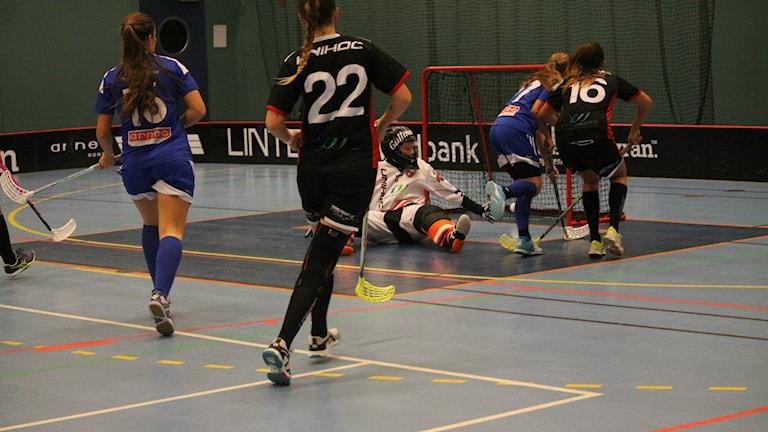 Hovshaga möter Partille i Hovshaga Sporthall. Foto: Viola Lindberg/Sveriges radio.