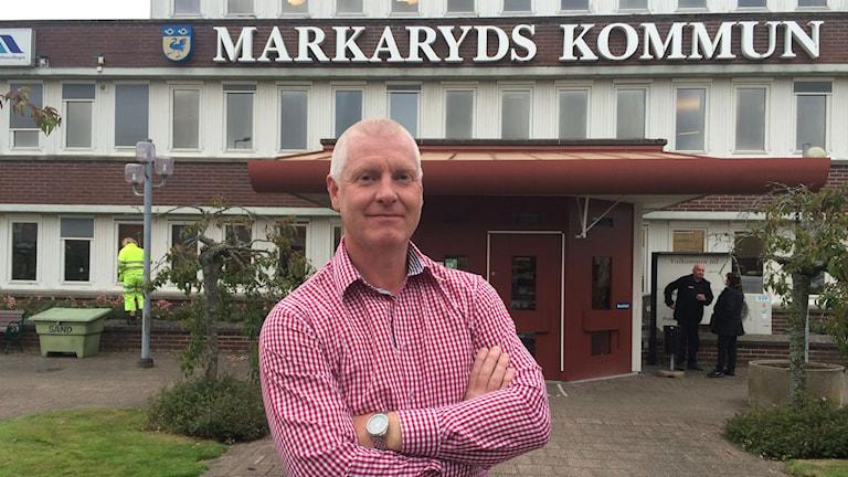 Markarydspolitikern Joakim Pohlman (S). Foto: Lars-Peter Hielle/Sveriges Radio
