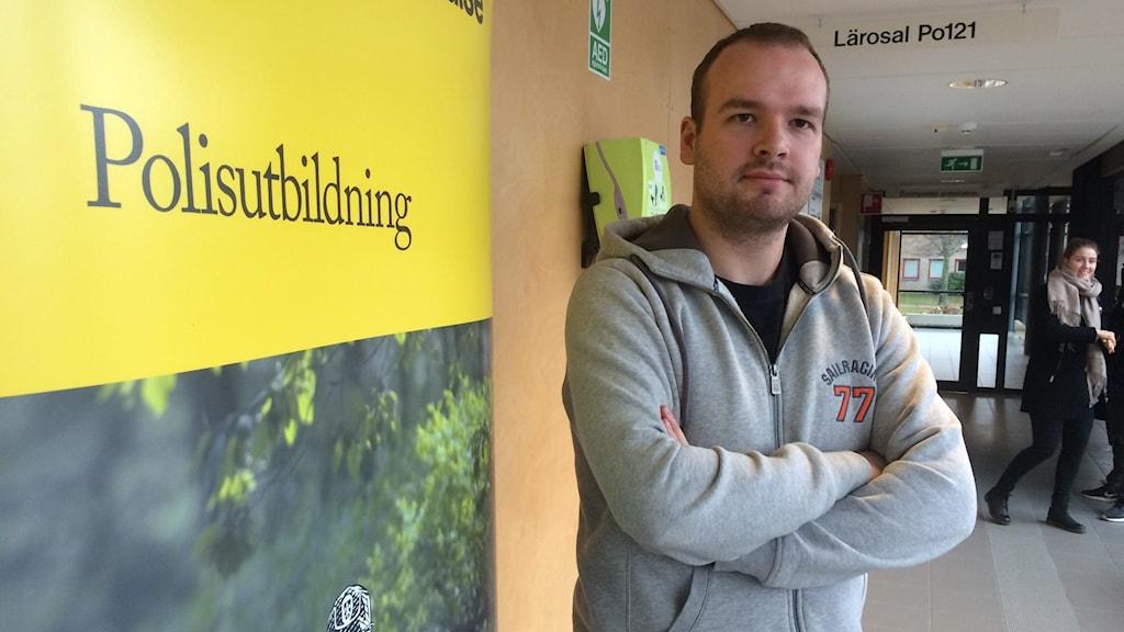 Benjamin Sjöberg är utbildningsansvarig för polisstudenterna i Växjö
