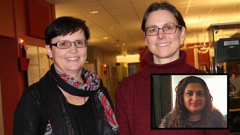 Susanne Hallström, integrationsutvecklare på länsstyrelsen, Kristina Gustavsson, lektor i socialt arbete och Hiba Weli som kom till Sverige från Irak som femåring.