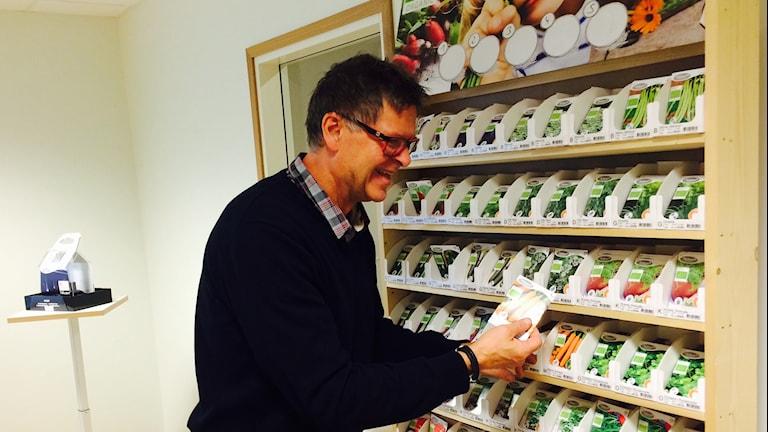 Torsten Nilsson Vd på Nelson Garden berättar med stor entusiasm om företagets nya utvecklingsprojekt.