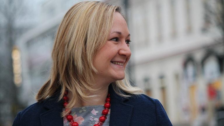 Anna Dziuba på Storgatan i Växjö.